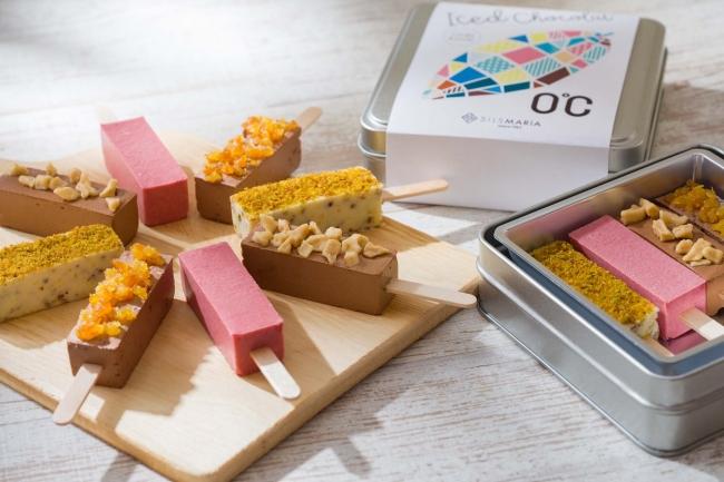 Ice d Chocolat 「0℃」 color assort - アイス ド ショコラ「0℃」 カラーアソート - バナナ・ピスタチオ・ベリーベリー・オランジェ 1,080円(税込)