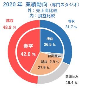 2020 年業績動向(専門スタジオ)