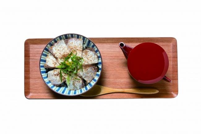 MUSMUS よかとと薩摩カンパチどんを使ったヒハツの出汁茶漬 1,200円(税別)