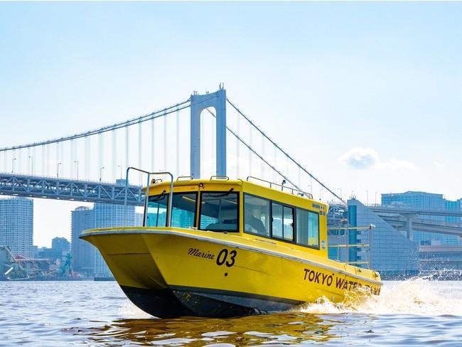 「月島川・東京港コース」ではレインボーブリッジが目の前に!