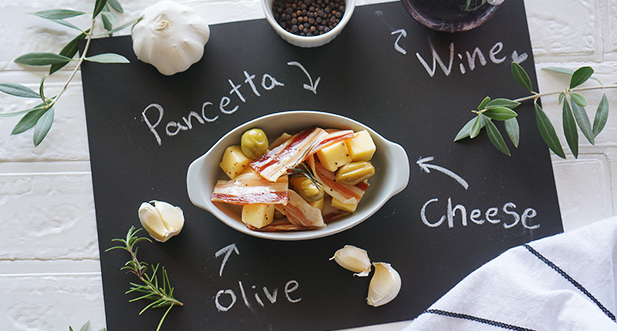 マリアージュデリ「チーズ&オリーブ(パンチェッタ)」