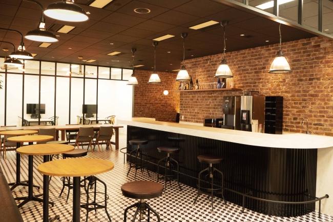 ニューヨークをイメージしたカフェスペース