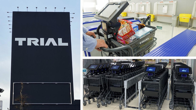 ※スマートショッピングカートの画像は参考用のイメージです(撮影場所:長沼店(上)、伊万里店(下))。