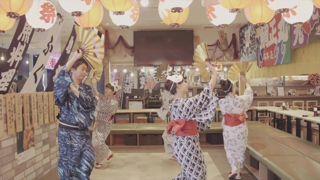 踊りのプロによる「魅せる盆踊り」鑑賞後、レクチャーを受けて輪になって踊りましょう🎵