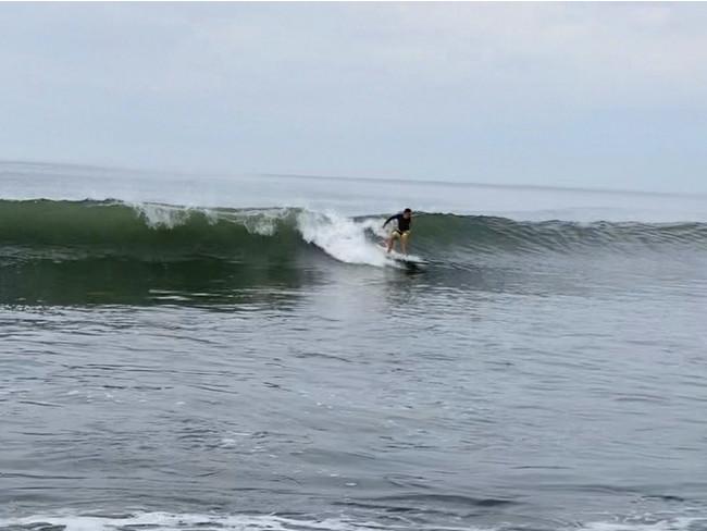 朝サーフィン