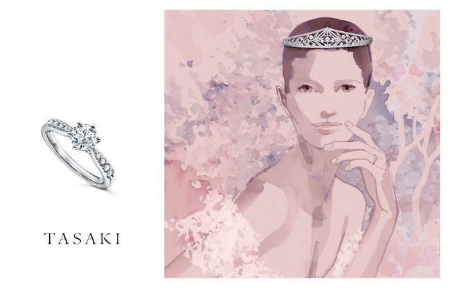 TASAKI BRIDAL / PIACERE & Sarah with Illustration by Sarah Singh (C)TASAKI