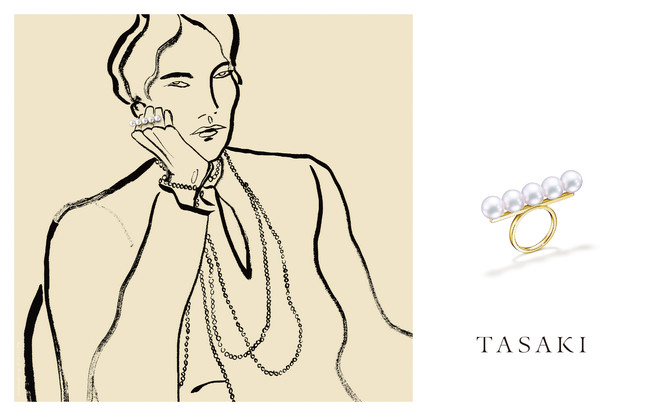 TASAKI COLLECTION LINE / balance with Illustration by Rosie McGuiness (C)TASAKI