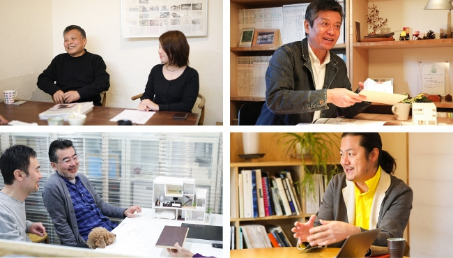 インタビューを通じて等身大の建築家の姿を伝えます