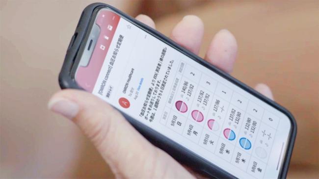 血圧お知らせ定期便(メール画面)