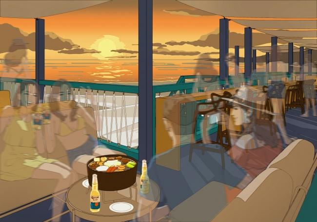 葉山の海とサンセットを一望できるプレミアムリザーブシート