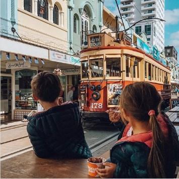 市内を走るトラム