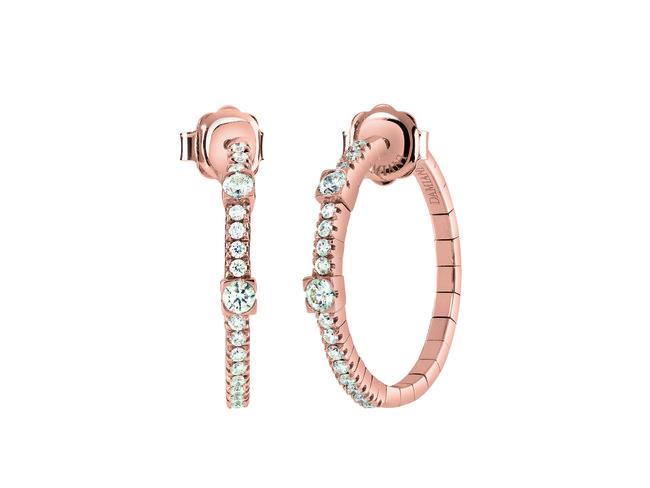 ピアス ¥419,000(税抜) ピンクゴールド、ダイヤモンド