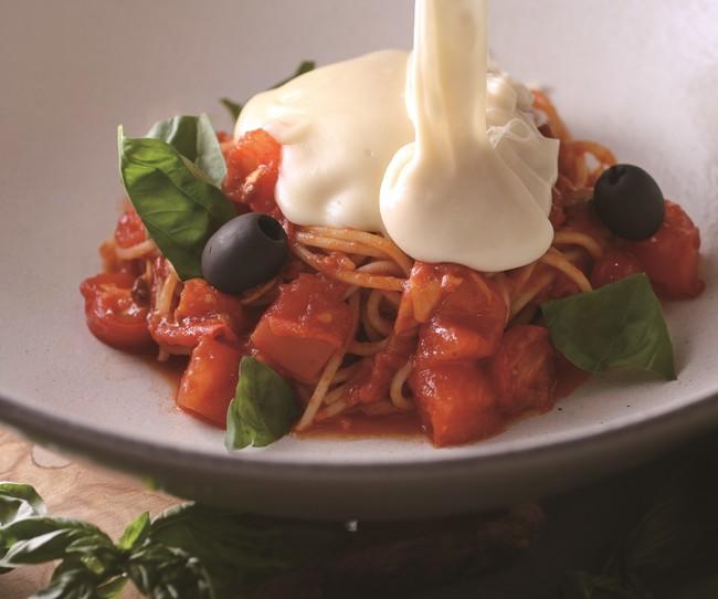 パスタ:とろ~りチーズの糸引きスパゲティ