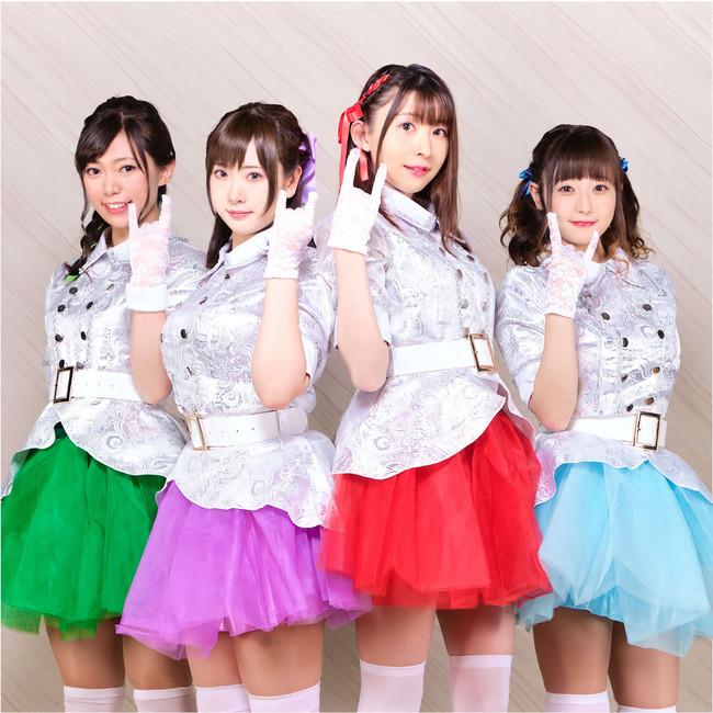 劇中で登場するアイドルユニット『ミラライラ』(左から:三木くるみ、すみれおじさん、北原知奈、永井すみれ)