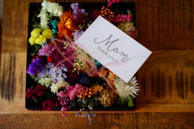 flower box.ドライフラワーなので長く楽しめます。