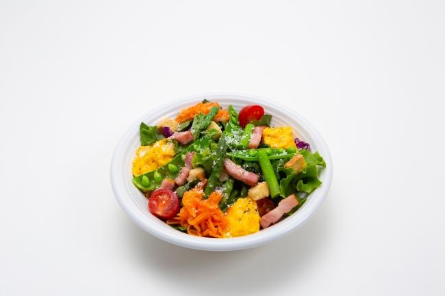 【ランチ】季節野菜ととろっとスクランブルのシーザーサラダ