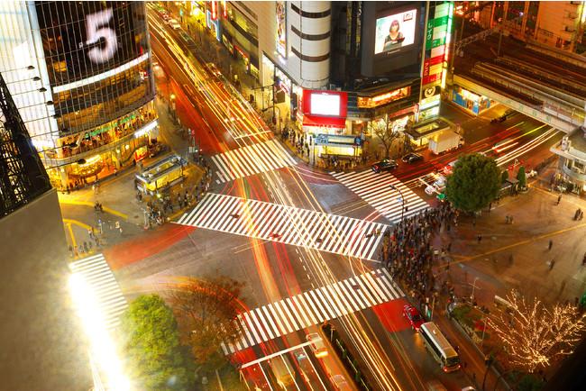 ホテルから見える渋谷スクランブル交差点
