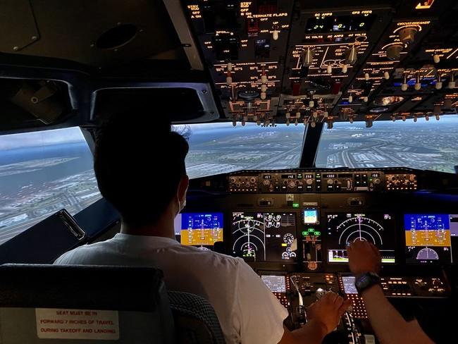 フライトシミュレーター操縦体験イメージ