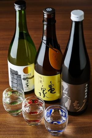 日本酒3種飲み比べ【美丈夫、亀泉、文佳人】