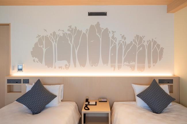 井の頭恩賜公園をイメージした壁面