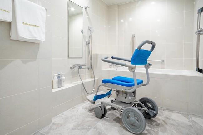 浴室用車椅子でも旋回が可能な浴室