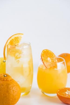 愛媛県産の柑橘類「季節のみかん」のドリンク