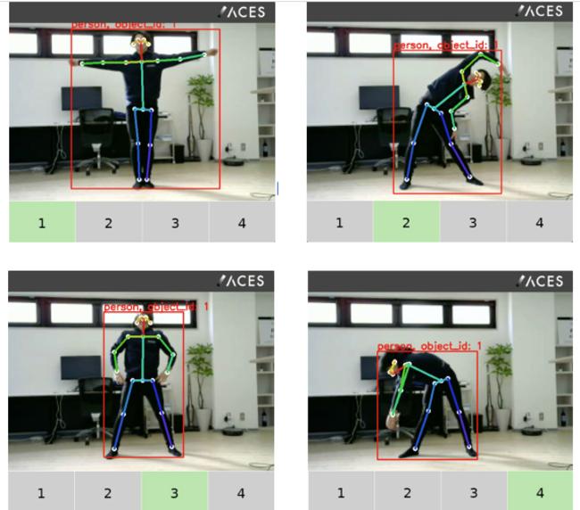 図1 ラジオ体操にACESの行動認識技術を適用した例