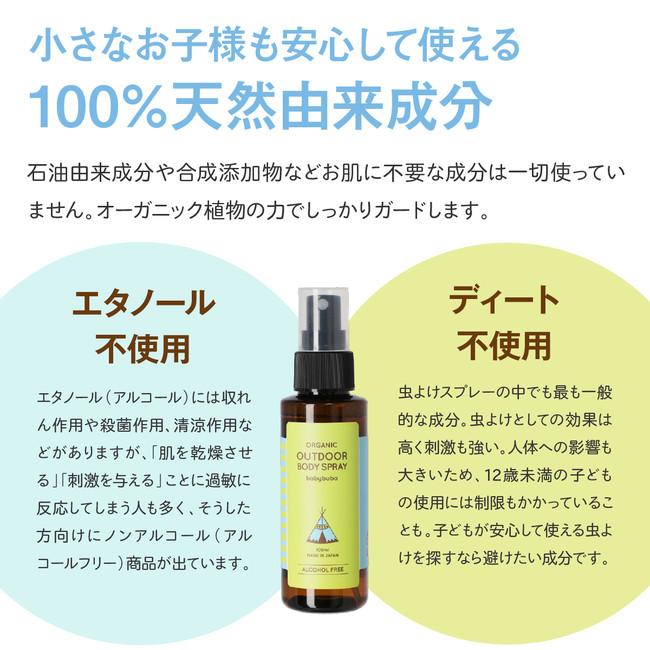 100%天然由来成分・無添加・エタノール、ディート不使用