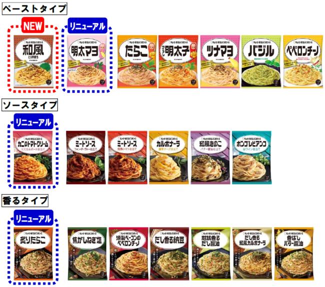 「キユーピー あえるパスタソース」 シリーズ全20品