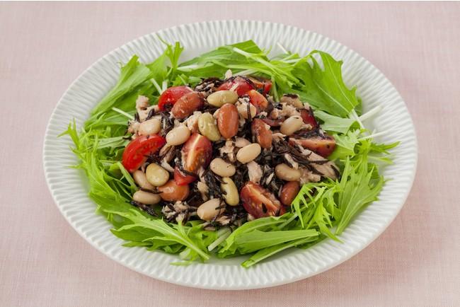 和豆とツナとひじきのサラダ(和豆ミックス使用)