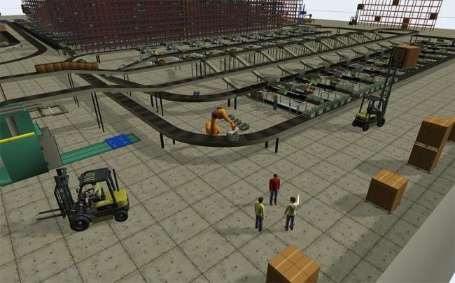 図2.施設全体をシミュレーションした画面