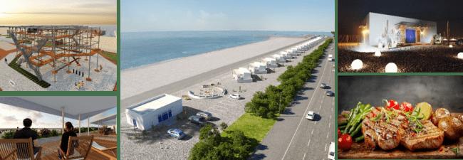 都市型キャンプ 非現実的な日常を味わうURBAN CAMP HOTEL Marble Beach