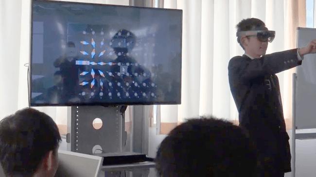 複合現実技術を使った実際の授業(愛知総合工科高校)の様子
