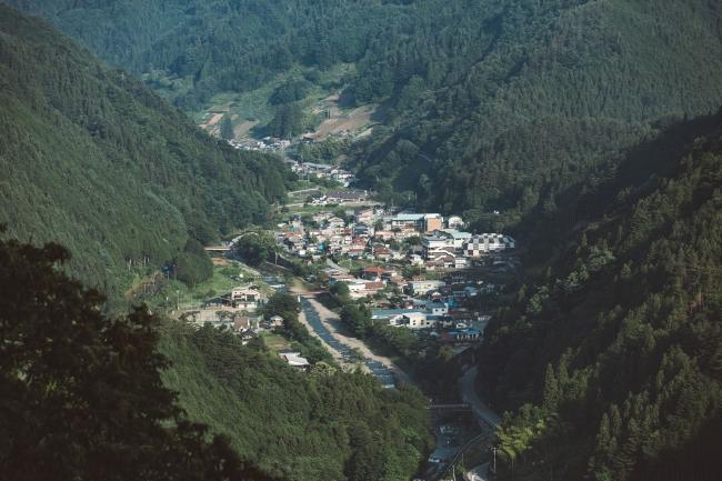 小菅村の遠景