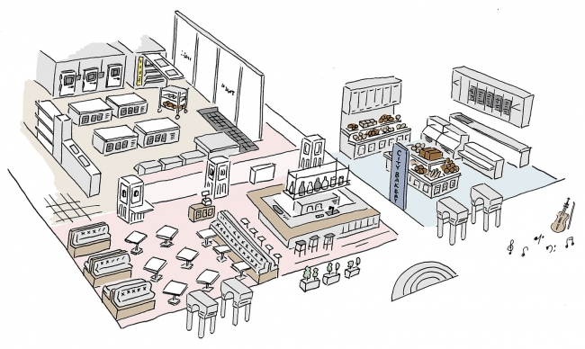 THE CITY BAKERY STUDIO TOKYO 全体イメージ図