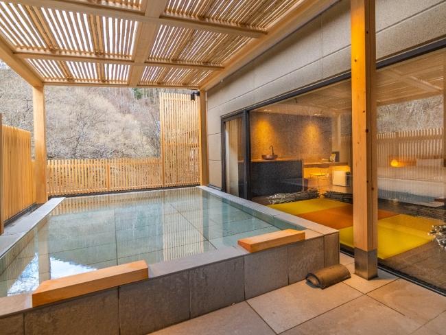 然-熊野(ユヤ)20平方メートル のテラスに露天風呂