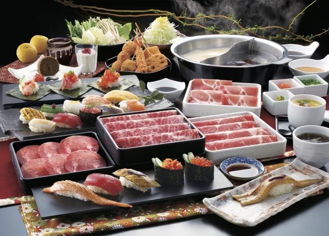 黒毛牛・牛たんしゃぶしゃぶ・上寿司 3980円