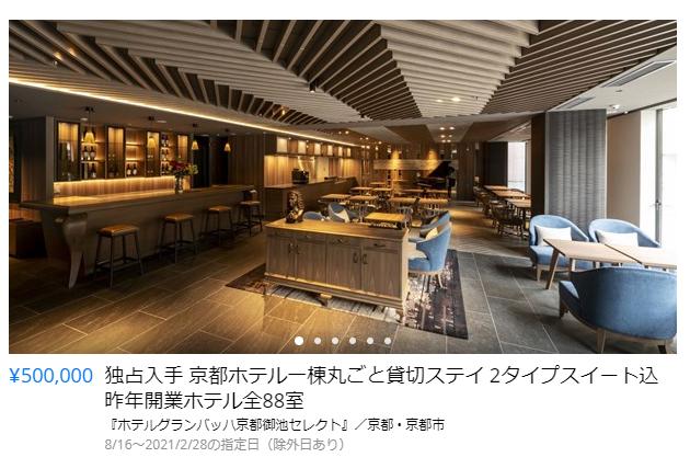 『ホテルグランバッハ京都御池セレクト』実際の販売の様子
