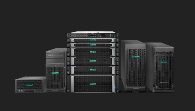 HPE ProLiant Gen10サーバーファミリー:一番左のサーバーがHPE ProLiant MicroServer Gen10 Plusです。