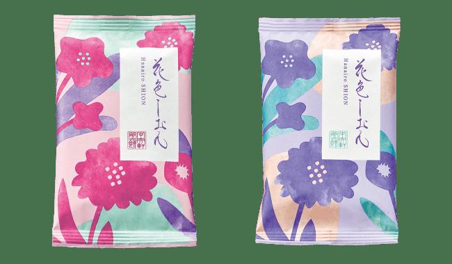 個包装デザイン(左)薄紅 (右)藤紫