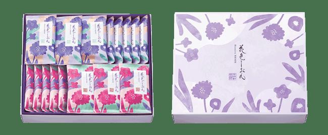 (左)24袋入 本体価格3,000円 (右)箱のデザイン