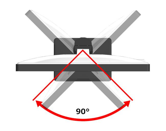 広角スイーベル機能