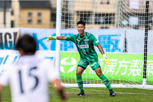 加入後初先発を果たし、チームの流れを作ったGK安田(Photo:辻本翔子)