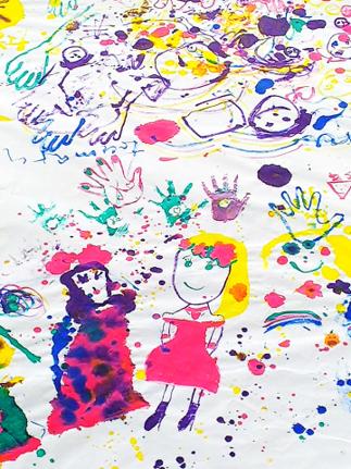 子どもたちの作品(部分拡大)