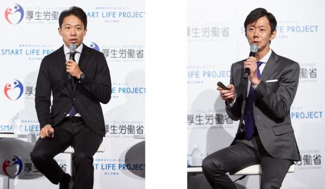 (左)CRAZY・松田悠介氏 (右)ヤフー・市川久浩氏