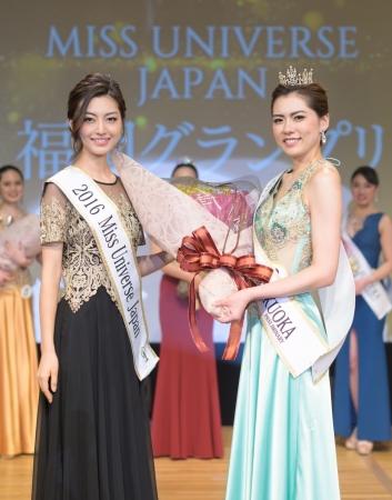 (左)2016年ミス・ユニバース・ジャパン代表 中沢沙理(右)2019ベスト・オブ・ミス福岡グランプリ 中條愛生