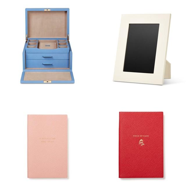 左上より:Panama ジュエリーボックス 310,000円、Panama フォトフレーム M 42,000円、Panama ノートブック 9,400円、Chelsea ノートブック 17,000円(すべて税込)