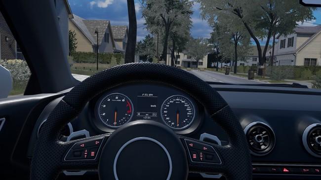 試乗する運転手から見える景色