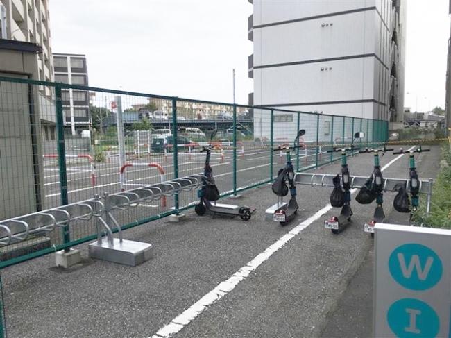 稲毛海岸駅付近の公道用ステーション