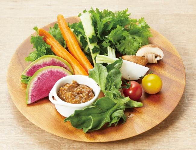 旬のスティック野菜 880円 話題の古代発酵食品「醤(ひしお)」も手作り